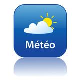 Bouton METEO (prévisions météorologiques informations) poster