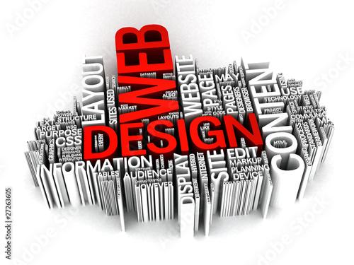 Web Design 3D word collage