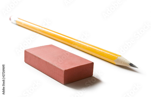 Pencil and eraser