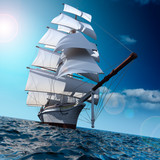 Sailing ship at sea - 27265085