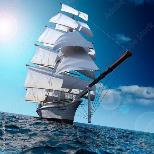 zaglowiec-na-morzu