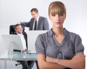Bussines woman wth her associates