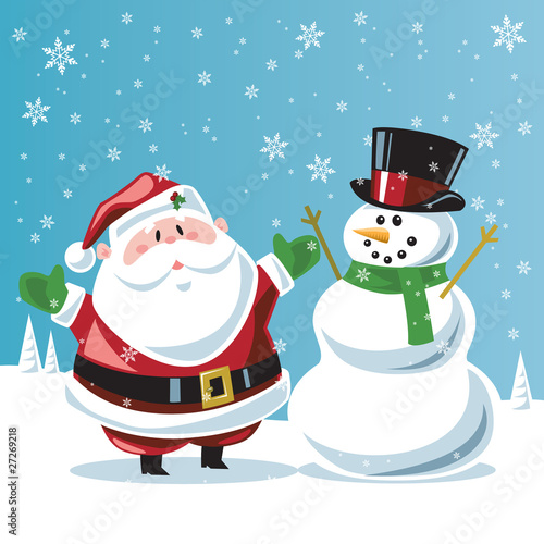 Santa Claus And Frosty The Snowman Santa Claus Frosty The
