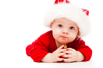 Kid with Christmas decoration
