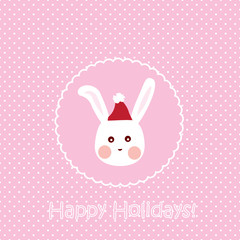 Bunny card, christmas greeting