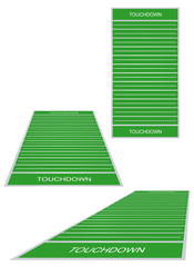 American football fields with marks. Vector illustration.
