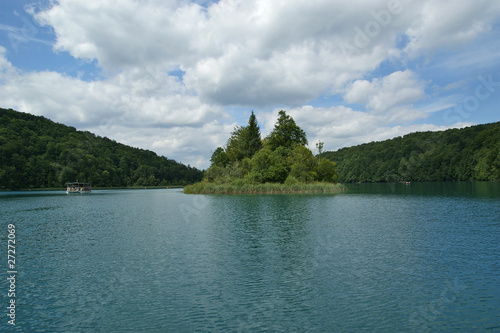 landscape consisting of mountains and lake