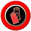 panneau danger, port des gants