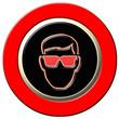 panneau danger, port des lunettes