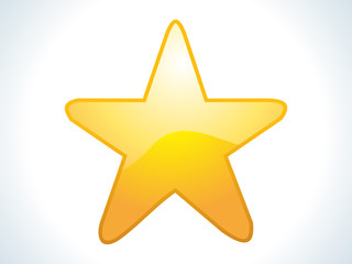 abstract yellow star icon
