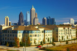 Condominiums against the midtown. Atlanta, GA. USA.
