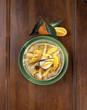 Crêpe à l'orange et boule de glace