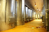Modern winery fermenting facility poster