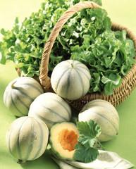 Melons et salades