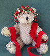 teddy bear with Christmas decorations