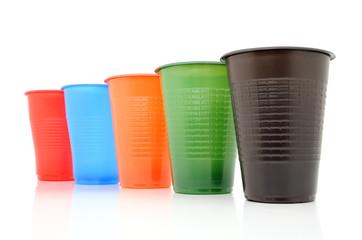 Color disposable glasses