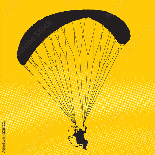 Parachutist flight