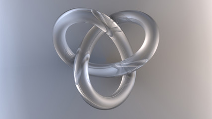 Computer rendering of a glass torus knot