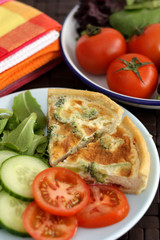 Broccoli Tomato and Cheese Quiche Salad