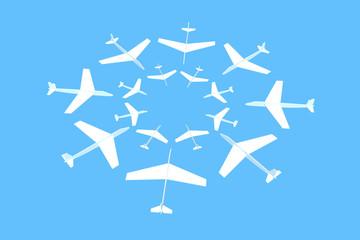 飛行機 集中