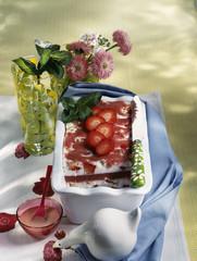 Terrine de fraises Blanche-Neige