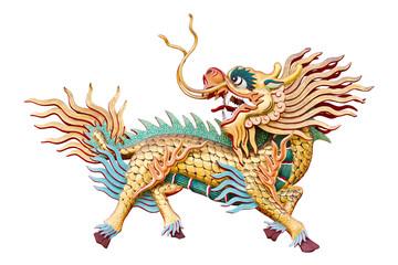 Chinese unicorn on white background