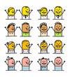cartoon emoticons - happy people