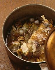 Crépinette de faisan aux noix et jus de chicorée