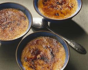Crèmes brûlées au potiron à la vanille