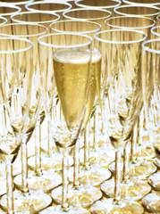 Coupe de Champagne en transparence