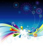 Vector illustration of holiday eve celebration background. poster