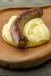 Saucisse grillée à l'aligot de l'Aubrac