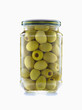 Bocal d'olives vertes