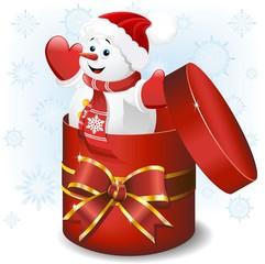 Pupazzo di Neve Dono-Baby Snowman Gift-Vector