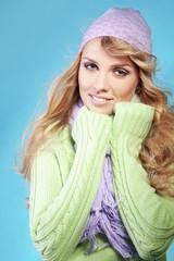 Beautiful fashion winter girl