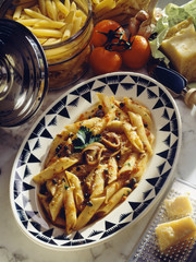 Penne with anchovies