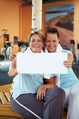 Reklame im Fitnesscenter