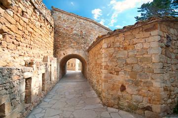 Medieval town Peratallada, Spain