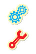 gear and wrench icons