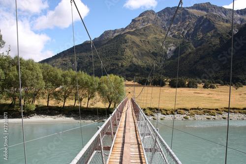 Hiking trail in New Zealand