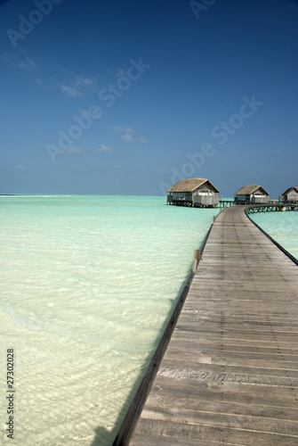 Jetty to the overwater bungalow