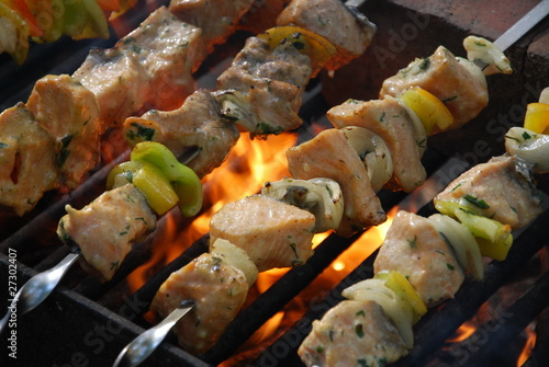 Fototapeta salmon kebabs
