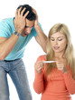 Couple Using Pregnancy Test. Models Released
