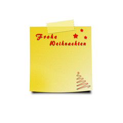 Weihnachtlicher Notizzettel