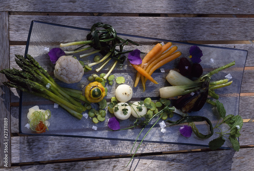 Assorted raw vegetables