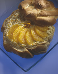 Bread with oranges