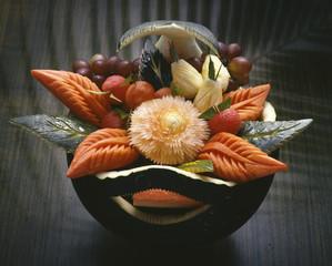 Thai sculpted fruit