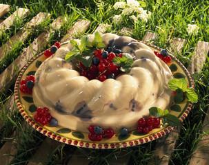 jasmine Bavarian cream dessert