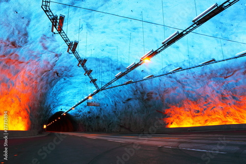 Lærdal Tunnel in Norway, the longest road tunnel in the world - 27315894