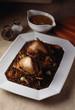 Partridge with lentils